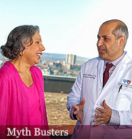 Mehra Golshan, MD, director of Breast Surgical Services with the Susan F. Smith Center for Women's Cancers and patient